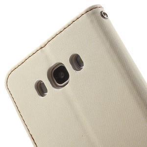 Gentle PU kožené peněženkové pouzdro na Samsung Galaxy J5 (2016) - bílé - 7