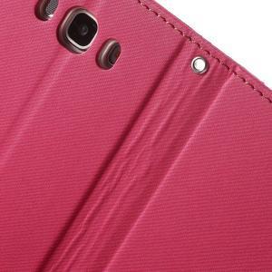 Gentle PU kožené peněženkové pouzdro na Samsung Galaxy J5 (2016) - rose - 7