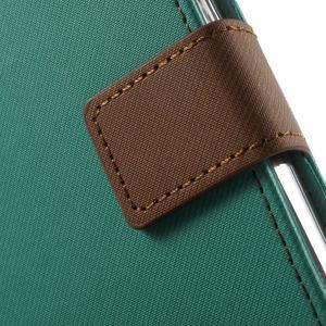 Gentle PU kožené peněženkové pouzdro na Samsung Galaxy J5 (2016) - zelenomodré - 7