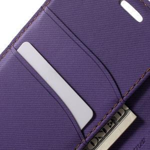 Gentle PU kožené peněženkové pouzdro na Samsung Galaxy J5 (2016) - fialové - 7