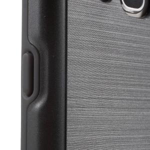 Gelový obal s plastovou výstuhou na Samsung Galaxy J5 (2016) - šedý - 7