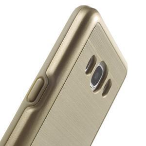 Gelový obal s plastovou výstuhou na Samsung Galaxy J5 (2016) - zlatý - 7