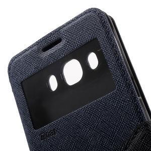 Knížkové pouzdro s okýnkem na Samsung Galaxy J5 (2016) - tmavěmodré - 7