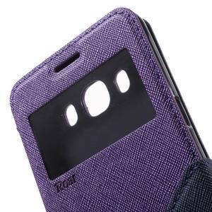Knížkové pouzdro s okýnkem na Samsung Galaxy J5 (2016) - fialové - 7