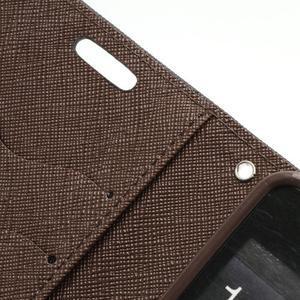 Diary PU kožené pouzdro na mobil Samsung Galaxy S2 - černé/hnědé - 7