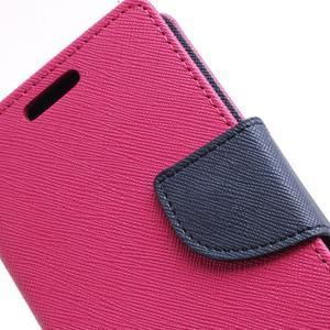 Diary PU kožené pouzdro na mobil Samsung Galaxy S2 - rose - 7