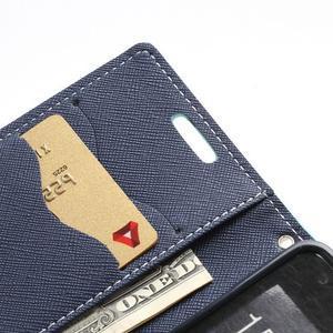Diary PU kožené pouzdro na mobil Samsung Galaxy S2 - azurové - 7