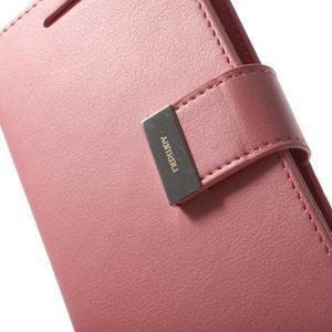RichDiary PU kožené pouzdro na Samsung Galaxy S3 - růžové - 7