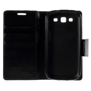 Diary PU kožené pouzdro na mobil Samsung Galaxy S3 - černé - 7