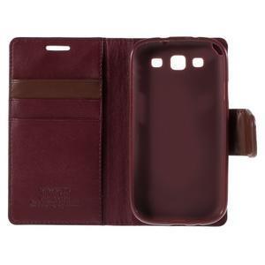 Diary PU kožené pouzdro na mobil Samsung Galaxy S3 - vínové - 7
