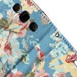 Květinové pouzdro na mobil Samsung Galaxy S3 - modré pozadí - 7/7