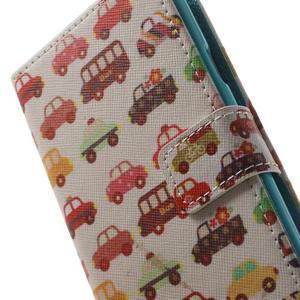 Knížečkové pouzdro na Samsung Galaxy S3 - autíčka - 7