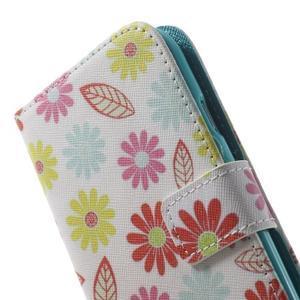 Knížečkové pouzdro na Samsung Galaxy S3 - květinky - 7