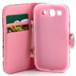 Knížkové pouzdro na mobil Samsung Galaxy S3 - sovičky - 7