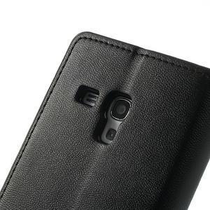 Diary PU kožené pouzdro na Samsung Galaxy S3 mini - černé - 7