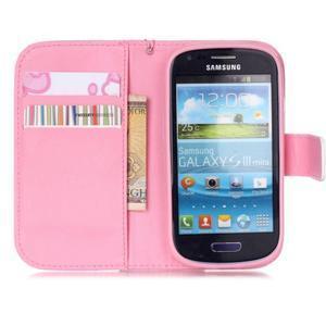 Knížkové PU kožené pouzdro na Samsung Galaxy S3 mini - motýlci - 7