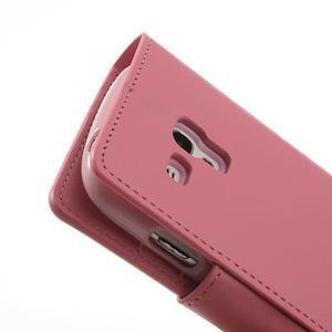 Diary PU kožené pouzdro na Samsung Galaxy S3 mini - růžové - 7