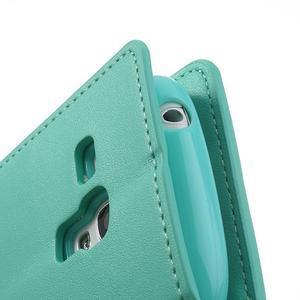 Diary PU kožené pouzdro na Samsung Galaxy S3 mini - azurové - 7
