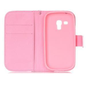 Knížkové PU kožené pouzdro na Samsung Galaxy S3 mini - pampelišky - 7