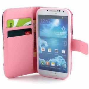 Standy peněženkové pouzdro na Samsung Galaxy S4 - soví strom - 7