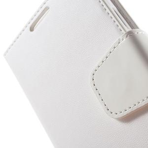 Diary PU kožené pouzdro na mobil Samsung Galaxy S4 - bílé - 7