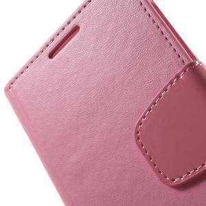 Diary PU kožené pouzdro na mobil Samsung Galaxy S4 - růžové - 7