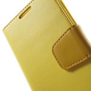 Diary PU kožené pouzdro na mobil Samsung Galaxy S4 - žluté - 7