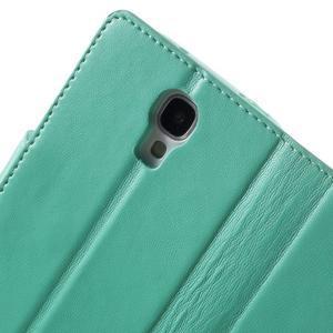 Diary PU kožené pouzdro na mobil Samsung Galaxy S4 - azurové - 7