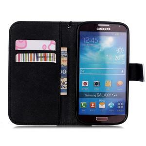Knížkové koženkové pouzdro na Samsung Galaxy S4 - dívka - 7