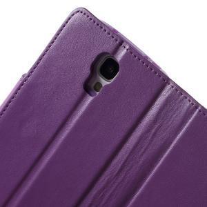 Diary PU kožené pouzdro na mobil Samsung Galaxy S4 - fialové - 7