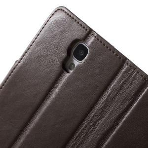 Diary PU kožené pouzdro na mobil Samsung Galaxy S4 - coffee - 7