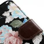 Květinové pouzdro na mobil Samsung Galaxy S4 - černé pozadí - 7/7
