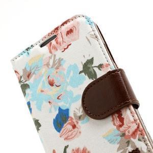 Květinové pouzdro na mobil Samsung Galaxy S4 - bílé pozadí - 7