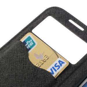 Okýnkové peněženkové pouzdro na mobil Samsung Galaxy S4 - černé - 7