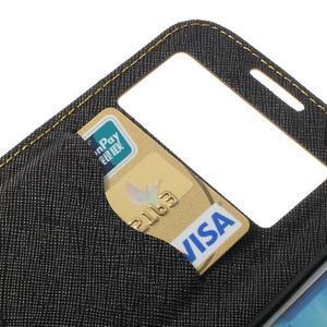 Okýnkové peněženkové pouzdro na mobil Samsung Galaxy S4 - žluté - 7