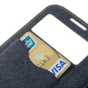 Okýnkové peněženkové pouzdro na mobil Samsung Galaxy S4 - zelené - 7