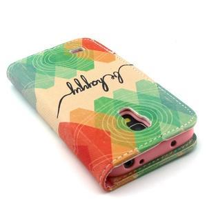 Diaryleather pouzdro na mobil Samsung Galaxy S4 mini - be happy - 7