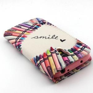 Diaryleather pouzdro na mobil Samsung Galaxy S4 mini - smile - 7