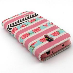Diaryleather pouzdro na mobil Samsung Galaxy S4 mini - růže - 7