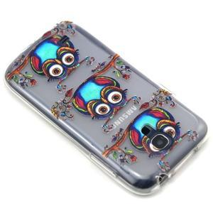 Transparentní gelový obal na Samsung Galaxy S4 mini - sovičky - 7