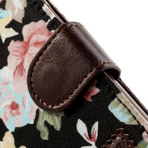 Květinkové pouzdro na mobil Samsung Galaxy S4 mini - černé pozadí - 7