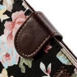 Květinkové pouzdro na mobil Samsung Galaxy S4 mini - černé pozadí - 7/7