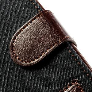 Jeans stylové pouzdro na mobil Samsung Galaxy S4 mini - černomodré - 7