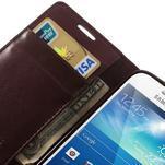 Sonata PU kožené pouzdro na mobil Samsung Galaxy S4 mini - vínové - 7/7