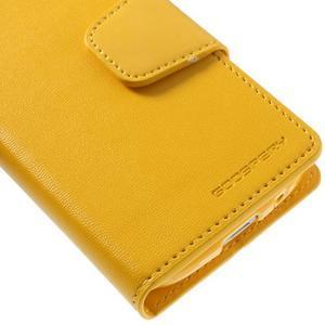 Sonata PU kožené pouzdro na mobil Samsung Galaxy S4 mini - žluté - 7