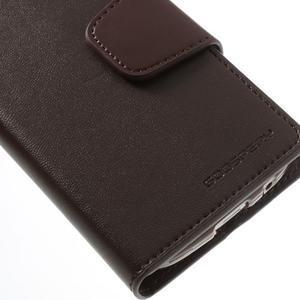 Sonata PU kožené pouzdro na mobil Samsung Galaxy S4 mini - hnědé - 7