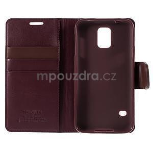 Elegantní peněženkové pouzdro na Samsung Galaxy S5 - vínové - 7