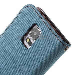 Jeans peněženkové pouzdro na mobil Samsung Galaxy S5 - světlemodré - 7
