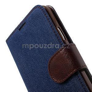 Jeans peněženkové pouzdro na mobil Samsung Galaxy S5 - tmavěmodré - 7
