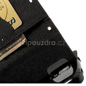 Diary peněženkové pouzdro na Samsung Galaxy S5 - černé - 7